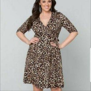 Lane Bryant Cheetah Wrap Dress